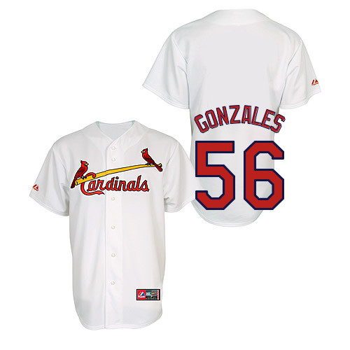 Marco Gonzales #56 Youth Baseball Jersey-St Louis Cardinals Authentic Home Jersey by Majestic Athletic MLB Jersey